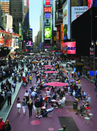 Times Square, NY after converting a portion of 