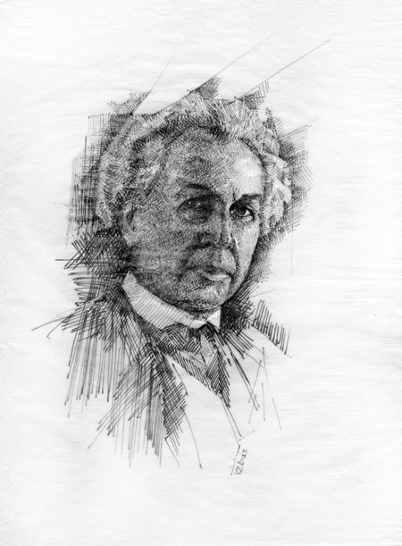 Frank Llloyd Wright Portrait by Vlad